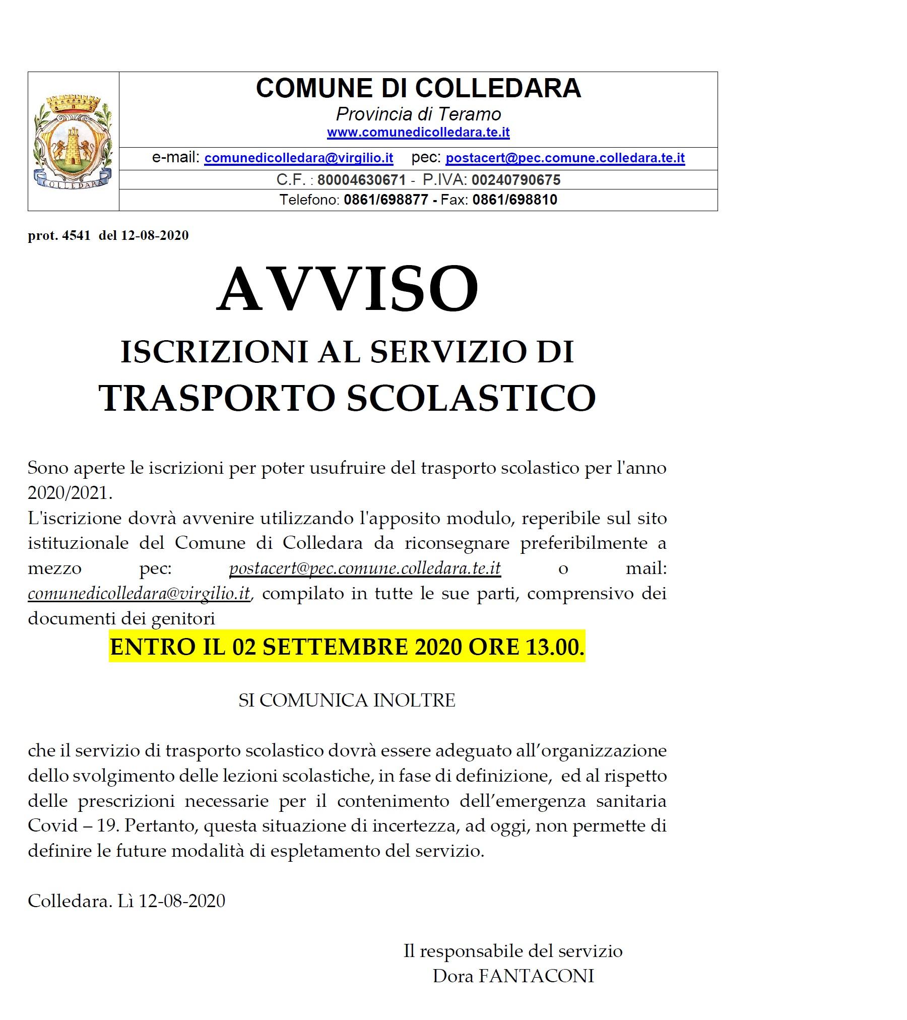 AVVISO PUBBLICO: PACCO ALIMENTARE DICEMBRE 2019