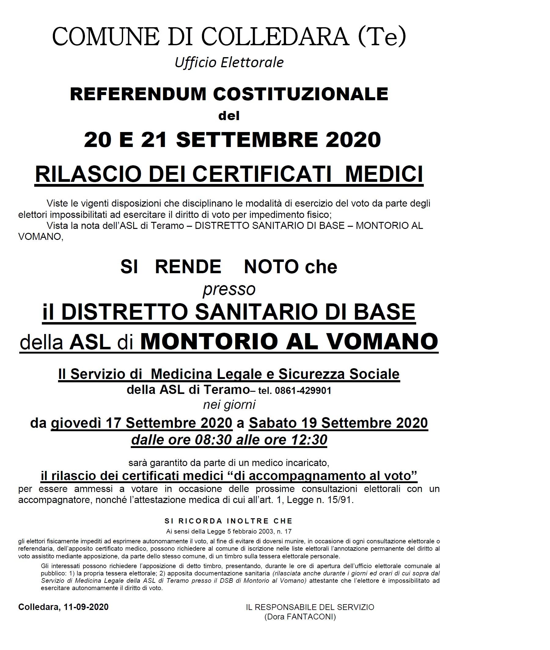 manifesto x certificati medici accompagnamento voto 2020